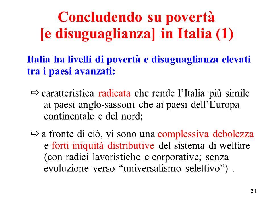 Concludendo su povertà [e disuguaglianza] in Italia (1)